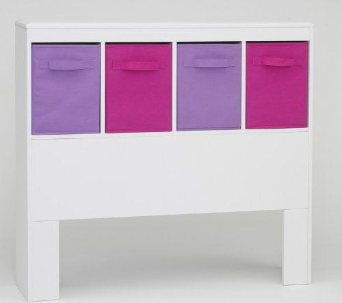 4D Concepts Girl's Headboard, White