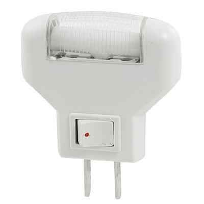 Amico Bedroom AC 220V White Light Night Lamp w Rocker Switch
