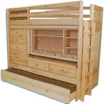 Build Your Own ALL IN ONE Loft Bunk Bed with TRUNDLE, Desk, CHEST, Closet: Plan Is So Easy, Beginners Look Like Experts