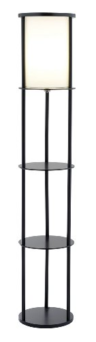 Adesso 3117-01 Stewart Round Shelf Floor Lamp