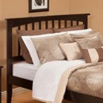 Atlantic Furniture R-1878 Urban Lifestyle Mission Headboard Finish: Espresso, Size: Queen