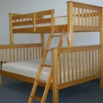 Bedz King Bunk Bed, Twin Over Full Mission Style, Honey