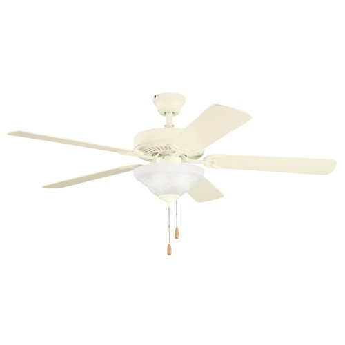 Kichler Lighting 339210ADC Sterling Manor Select 52IN Ceiling Fan, Adobe Cream Finish with Reversible Adobe Cream/Maple Blades and White Alabaster Glass Light Kit
