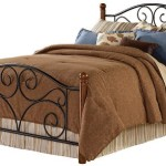 Fashion Bed Group Doral Queen Size Bed in Matte Black/Walnut Finish