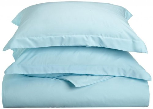 Clara Clark 1500 Series Duvet Cover Full Queen Size, Aqua Light Blue
