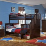Atlantic Furniture Columbia Staircase Bunk Bed in Antique Walnut