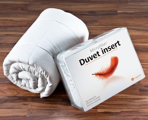 Hospitology Heavenly Microfiber Goose Down Alternative Duvet Insert/Comforter, 94-Inch by 90-Inch, Queen