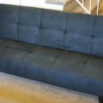 Black Microfiber With Adjustable Back Klik Klak Sofa Futon Bed Sleeper Convertible Quality