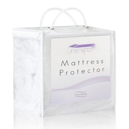 LinenSpa® 100% Waterproof Mattress Protector-Eliminates Dust Mites -15 Year Warranty, Twin