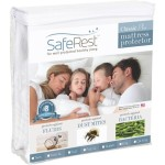 Twin Size SafeRest Classic Plus Hypoallergenic 100% Waterproof Mattress Protector – Vinyl Free