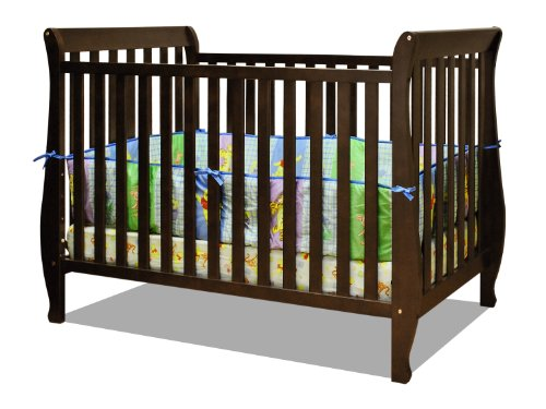 Athena Naomi 4 in 1 Crib with Toddler Rail, Espresso