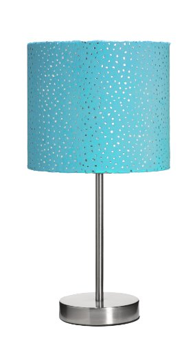 3C4G Sparkle Velour Table Lamp, Turquoise