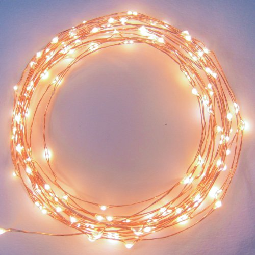The Original Starry Starry Lights – Warm White Color on Copper Wire – 20ft LED String Light – Includes Power Adapter – 2nd Generatin with 120 Individual LED's