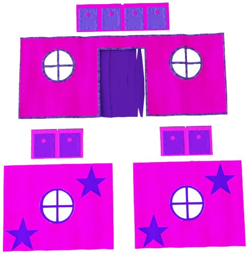 Dorel Home Products Pink Curtain Set for Fantasy Loft