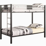Dorel Home Products Screen Twin-Over-Twin Bunk Bed, Silver