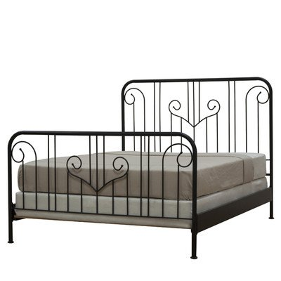 Outer Banks Wrought Iron Headboard Finish: Ebony, Size: Queen