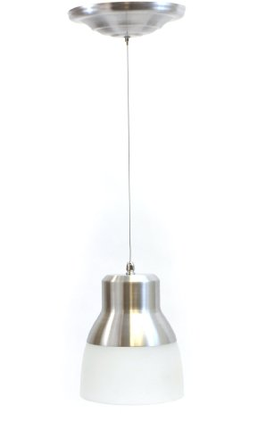 Exciting Lighting 002778 Ceiling Mount Battery Operated LED Pendant with Remote, Brushed Nickel
