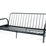 Roundhill Black Metal Futon Frame, Full