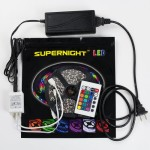 SUPERNIGHT (TM) 3528 SMD RGB Non-Waterproof LED Strip Lighting Mini Remote Controller Power Adapter Color Changing LED Strips for Festival Lighting Decoration Xmas Halloween Bedroom lighting Bedroom lighting