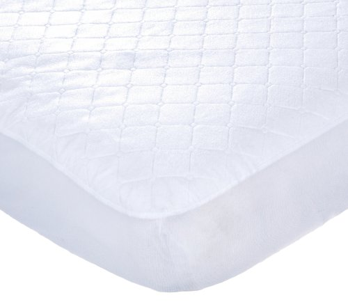 Carter's Keep Me Dry Fitted Quilted 4-Ply Crib Pad, White