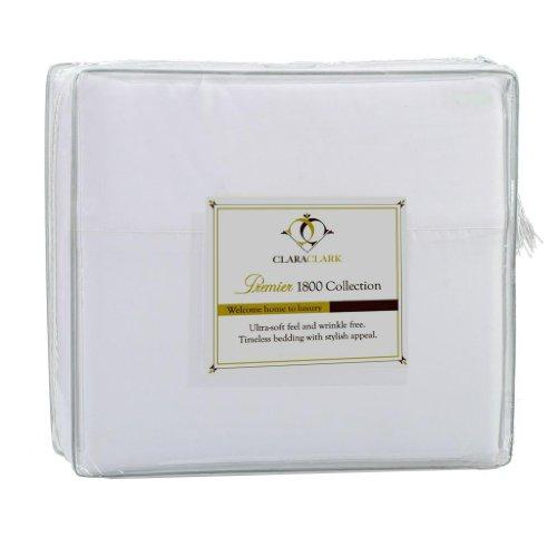 Clara Clark Premier 1800 Series 3pc Duvet Cover Queen Size, White