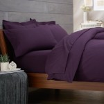 Pinzon Signature 190-Gram Cotton Velvet Flannel Full/Queen Duvet Cover Set, Aubergine