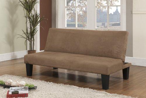 Kings Brand Beige Fabric With Adjustable Back Klik Klak Sofa Futon Bed Sleeper