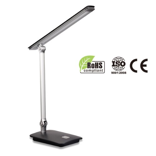 Lighting EVER® 7W Dimmable LED Desk Lamp, Modern Style, 3 Brightness Levels, Reading Lamp, Bedroom Lamp