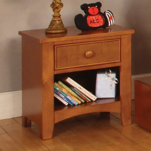 Solid Wood Youth Oak Finish Night Stand