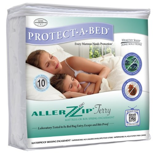 AllerZip Waterproof Bed Bug Proof Zippered Bedding Encasement, Twin XL DEEP Size (Fits 11″ – 18″ Deep)