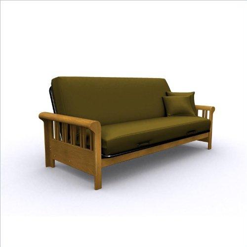 American Furniture Alliance Renaissance Metal/Wood Frame Full, Medium Oak
