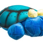 Soft Plush Turtle 4 Colors LED Moon & Stars Night Light Ceiling Projector for Children / Soothes and Comforts Kids to Sleep / Constellation Projection Nightlight Transforms Nurseries and Toddler Bedrooms into a Starry Magical & Tranquil Environment / Great Natural Sleep Aid for Babies, Toddlers or Adults / Battery Operated (Blue)