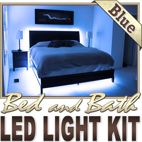16.4′ ft Blue Bedroom Dresser Headboard LED Lighting Strip + Dimmer + Remote + Wall Plug 110V – Behind Headboard, Closet, Make Up Counter, Behind Mirror, Reading Light, Night Light LED Reading Light Strip Night Light Lamp Bulb Accent Lights SMD3528 Waterproof 3528 SMD Flexible DIY 110V-220V