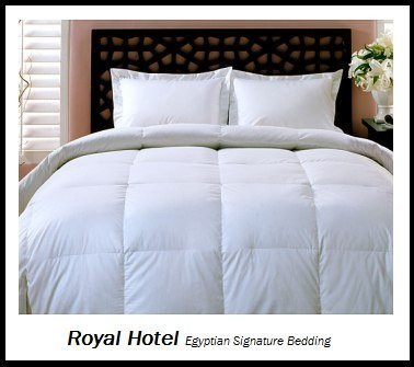 Royal Hotel's Full / Queen Size Down-Alternative Comforter – Duvet Insert, 300-Thread-Count 100% Down Alternative Fill