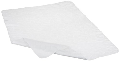American Baby Company Waterproof Embossed Quilt-Like Multi-Use Flat Protective Pad cover, White
