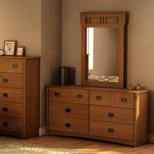 Tryon 6 Drawer Dresser – Roasted Oak