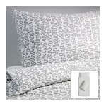 Ikea Krakris Abstract Gray White Twin 2pc Duvet Quilt Cover Set Modern