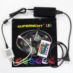 SUPERNIGHT (TM) SMD 5050 LED Light Ribbon Kit 150LEDs LED Strip Light kit Power Supply 24 keys mini Remote Controller 30 Leds/M Garden lighting TV backlighting Bedroom lighting