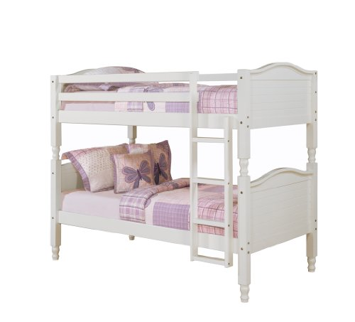 Dorel Asia Bunk Bed, Twin, White