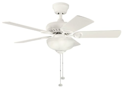 Kichler Lighting 337014SNW Sutter Place Select 42-Inch Ceiling Fan, Satin Natural White Finish with Satin Natural White Blades and Light Kit