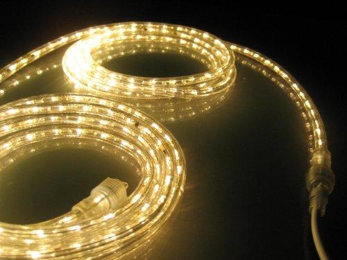 18Ft Rope Lights; Soft White LED Rope Light Kit; 1.0″LED Spacing; Christmas Lighting; outdoor rope lighting