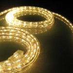 18Ft Rope Lights; Soft White LED Rope Light Kit; 1.0″LED Spacing; Christmas Lighting; outdoor rope lighting