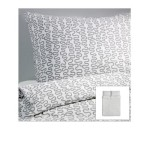 Ikea Kråkris 3pc Duvet Cover and Pillowcase(s), Gray/white Full/queen