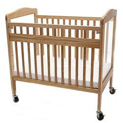 L.A. Baby Arched Window Evacuation Crib with Swing Gate — Mattress Included (L.A. Baby LAB-530 or LBB-530)