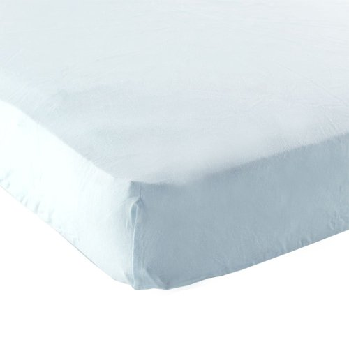 Luvable Friends Fitted Portable Crib Sheet, Blue