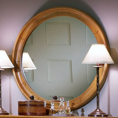 Cottage Round Dresser Mirror Finish: Oak