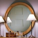 Cottage Round Dresser Mirror Finish: Oak