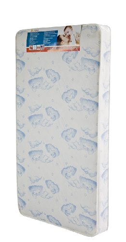 Dream On Me 88 Coil Spring Crib and Toddler Bed Mattress, Sweet Dreams, 6″