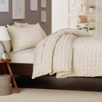 Pinzon 100-Percent Cotton Box Pleat Duvet Cover Set, King, Ivory