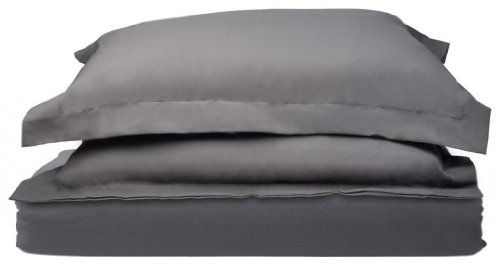 1500 Thread Count Egyptian Quality Duvet Cover Set, 3pc Luxury Soft, King-Gray